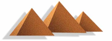 (graphic - the Great Pyramids....not so great)