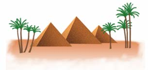 (graphic - the Great Pyramids)